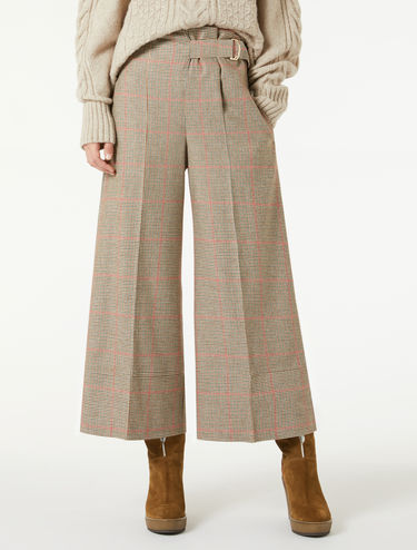 Wide flannel trousers