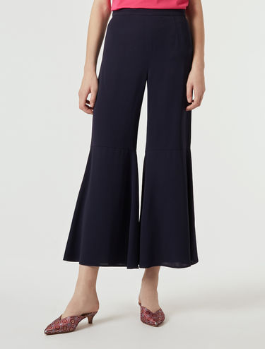 Double georgette palazzo trousers