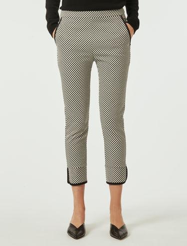 Lamé Jacquard trousers