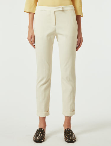 Pantaloni slim in cotone stretch