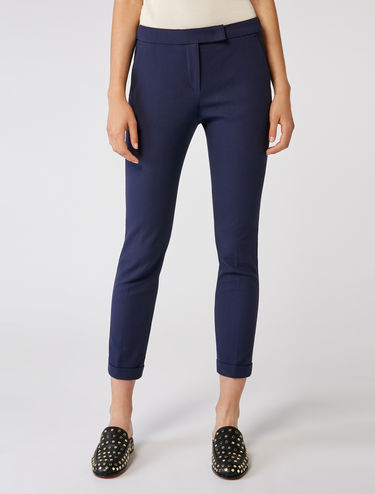 Slim stretch cotton trousers