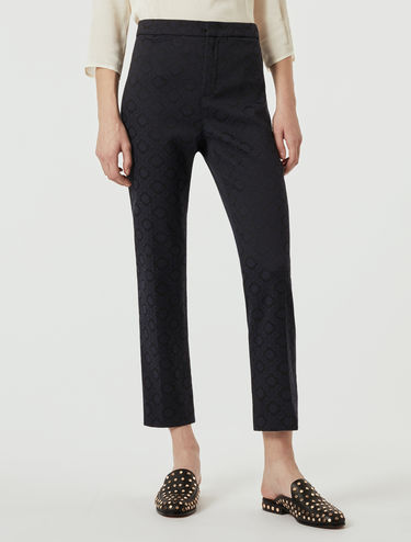 Jacquard fabric trousers