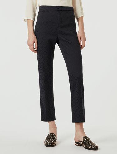 Pantalon en tissu jacquard