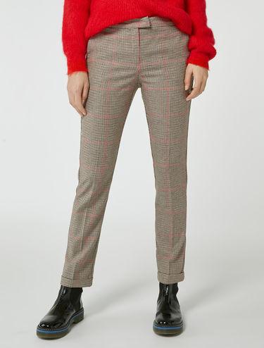 Pantaloni slim in flanella