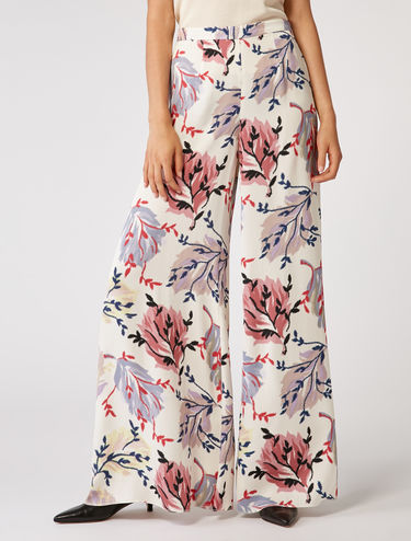 Light cady palazzo trousers