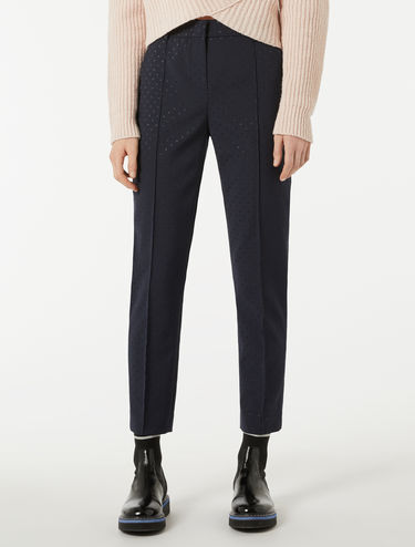 Pantaloni slim jacquard lamé