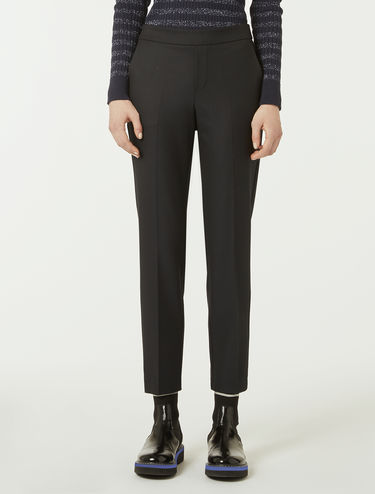 Slim-fit trousers in stretch fabric