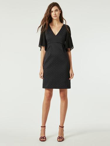 Jacquard fabric dress