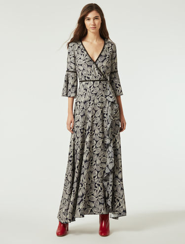 Long, double georgette dress