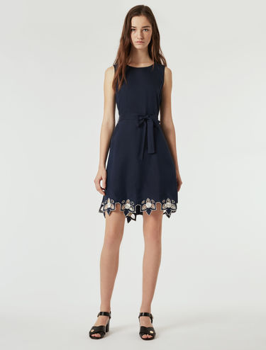 Dress with floral embroidery