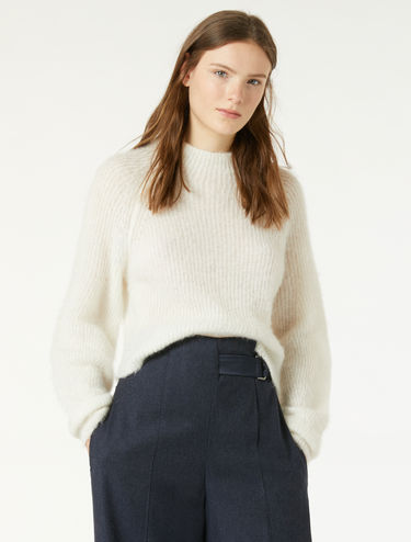 Slim-fit ribbed mohair jumper