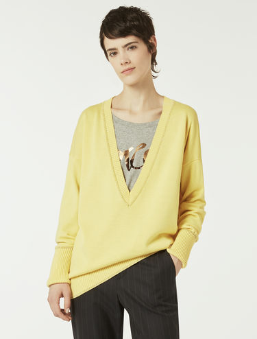 Jumper with plunging V-neck