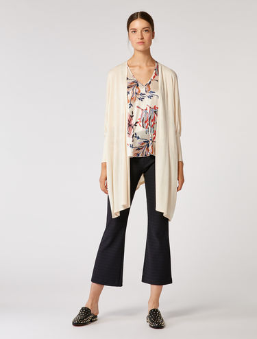 Cardigan style kimono fluide