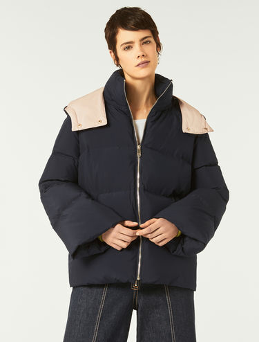 Padded coat with detachable hood