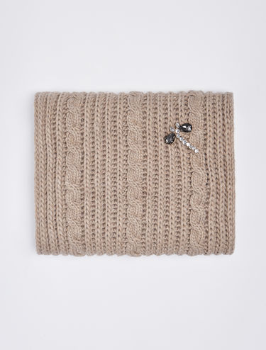 Snood with jewel embroidery