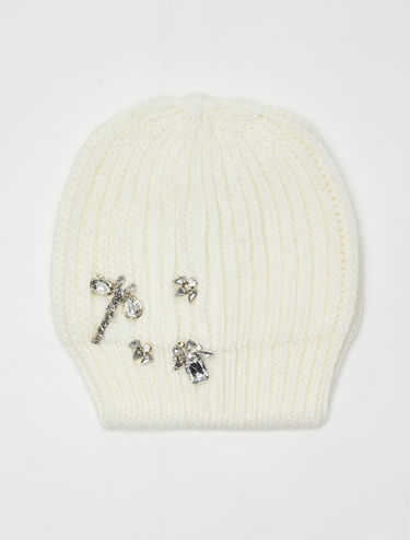 Hat with jewel embroidery