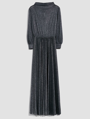 Robe longue en jersey lamé