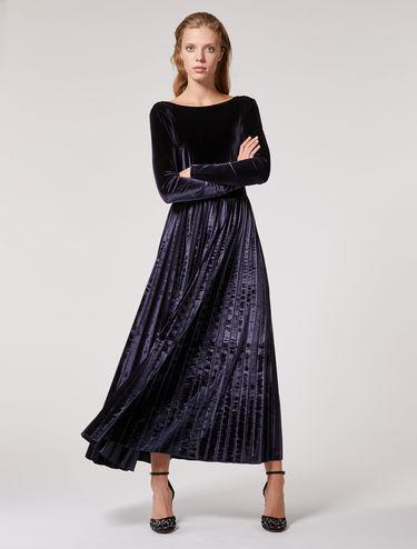 Robe longue en jersey velouté