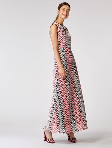 Long macramé jersey dress