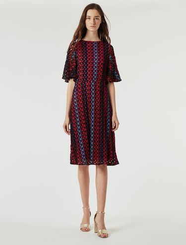 Macramé jersey dress