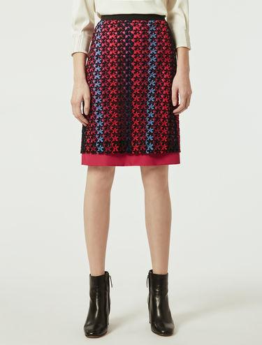 Macramé jersey skirt