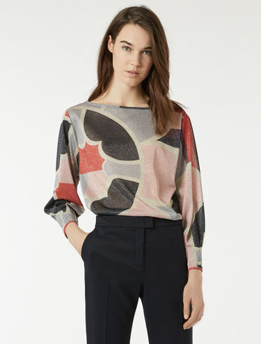 Blusa in jersey lamé