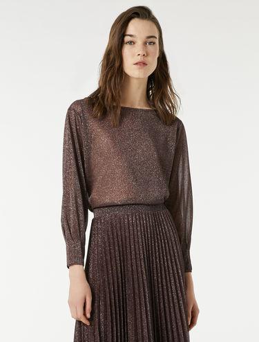 Lamé jersey blouse