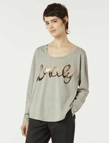 "T-shirt ""lovely"" con paillettes"