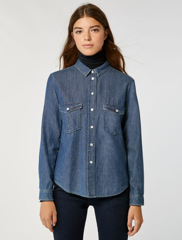 Camicia in denim délavé