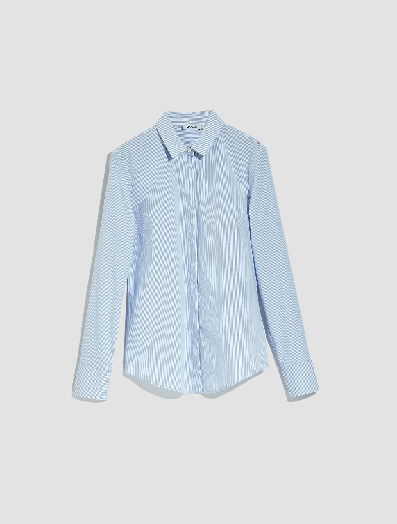 8efef17a Slim-fit cotton poplin shirt. €75.00. Colour: Sky Blue Pattern