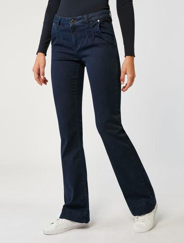 Jean boot-cut bleu foncé
