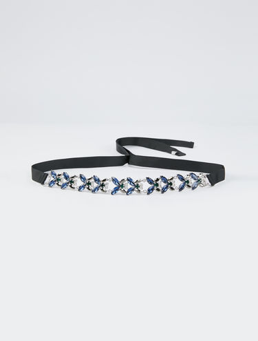 Rhinestone necklace belt