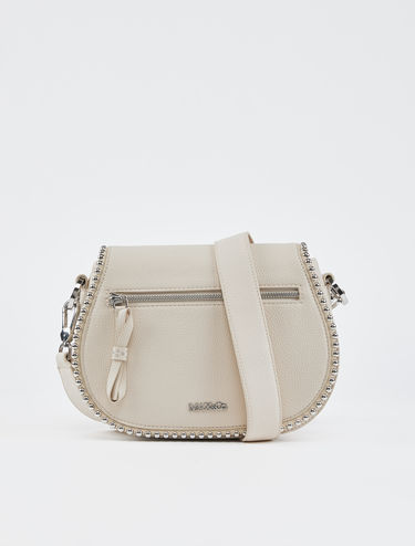 Saddle bag with boule-studded trim