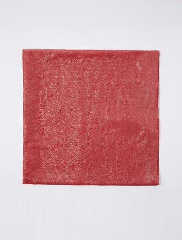 Lamé micro-stripe stole scarf