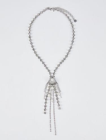 Halskette mit Strass und Cluster