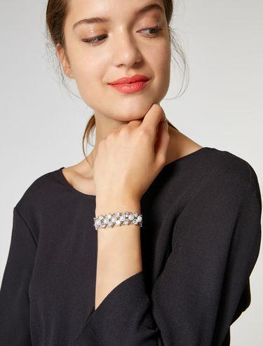 Armband mit Strass und Perlen
