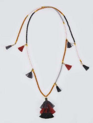 Offene Halskette mit Quasten