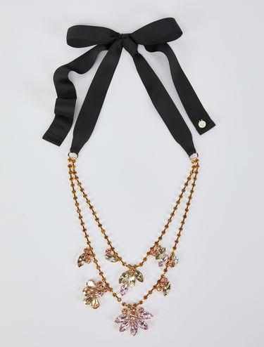 Doppelsträngige Halskette mit Strass