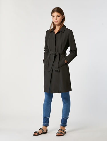 Technical ottoman trench coat