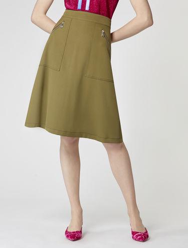 ストレッチ キャバルリー ツイル スカート