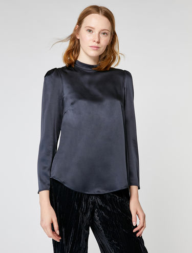 Blouse en satin de soie stretch