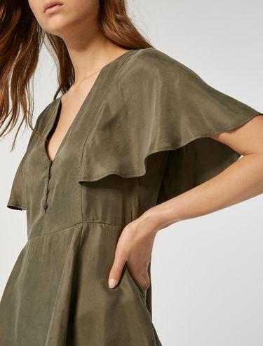 Butterfly sleeved V-neck blouse