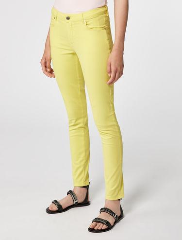 Skinny pants di gabardine