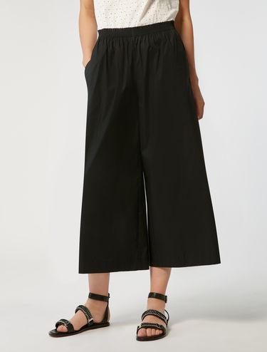 Wide-fit poplin trousers