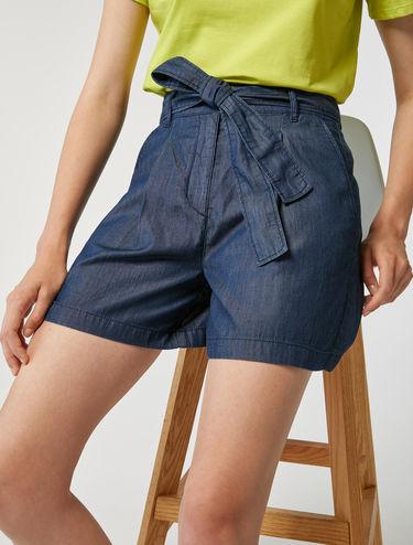 Tie-waist shorts