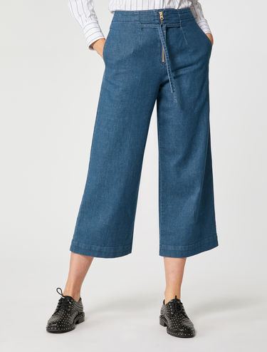 Jeans cropped wide fit
