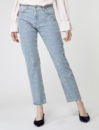 Jeans straight fit fil coupé