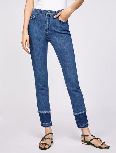 Hem detail skinny-fit jeans