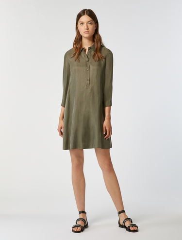 Floaty twill A-line dress