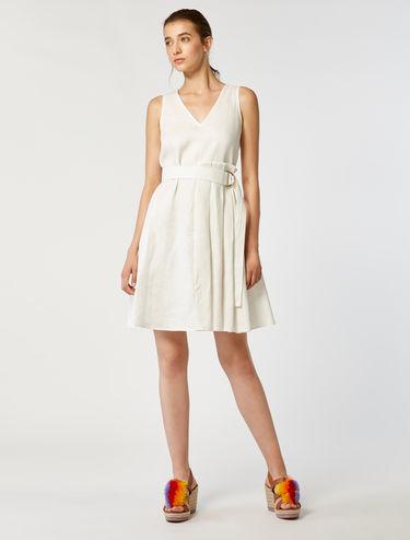 Pure linen A-line dress